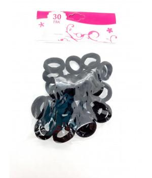 Мини бесшовные резинки чёрные 30 шт