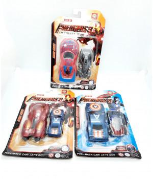 Машинки Супергерои 2 шт