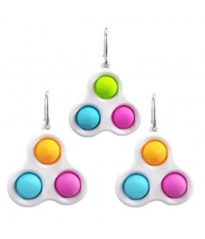 Сенсорная игрушка-брелок Simple Dimple тройной