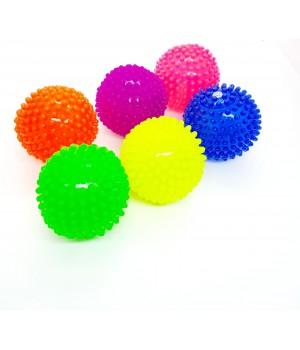 Светящий мяч резиновый пищалка