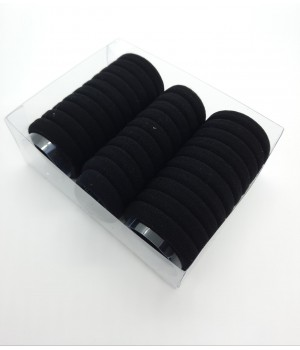Набор бесшовных резинок чёрные 30 шт
