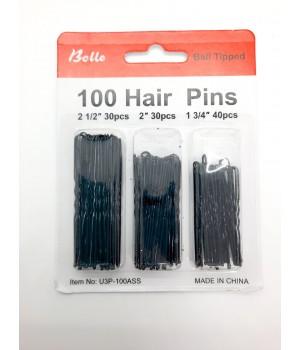 Шпильки чёрные 3 размера