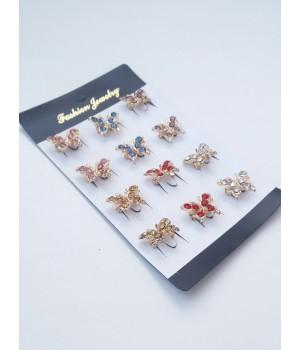 Брошка Бабочка с камнями