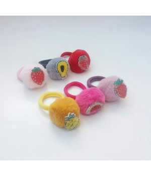 Детская меховая резинка сахарные фрукты
