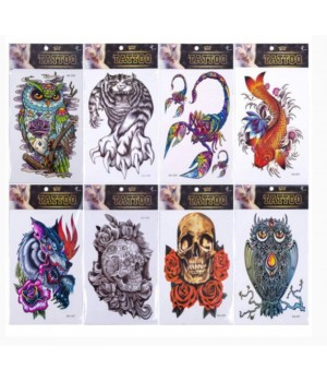 Татуировки цветные ассорти
