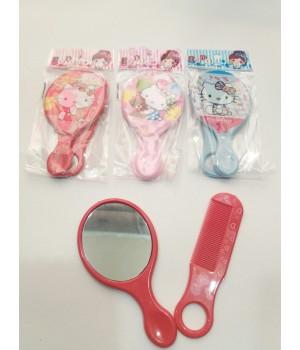 Детский набор расческа и зеркало Hello Kitty