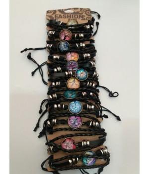 Браслет плетеный кожзам Дерево Albero