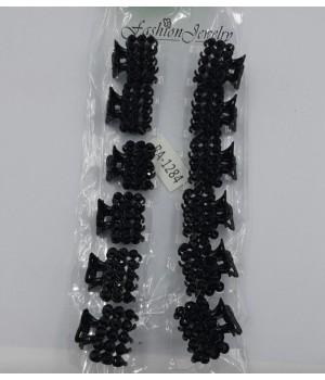 Металлический крабик для волос чёрный
