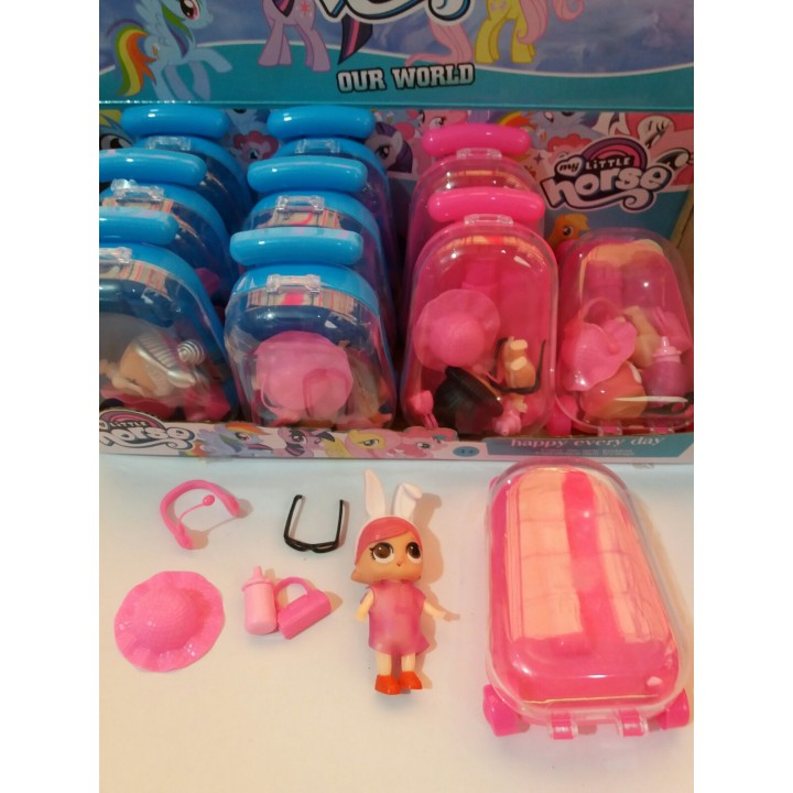 Чемодан кукла LOL с аксессуарами