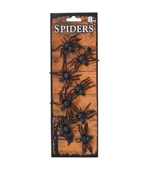 Набор резиновых пауков 8 шт