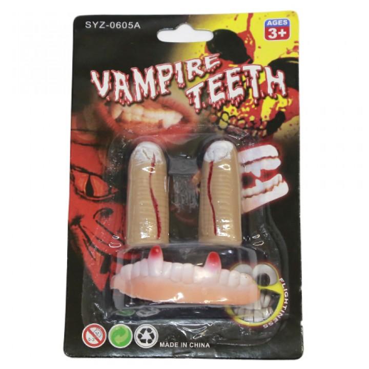 Зубы с пальцами