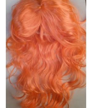 Карнавальный парик оранжевый.