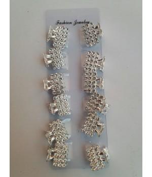 Крабик металлический серебро