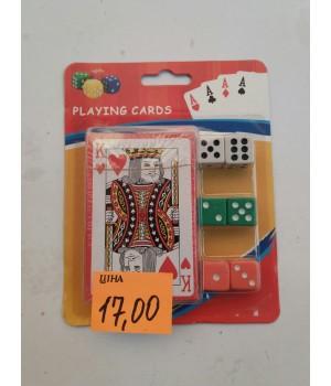 Набор карты+кости игральные
