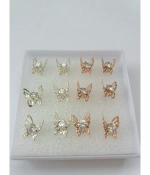 Серьги гвоздики Бабочки