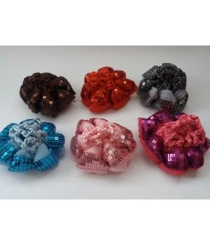 Резинка для гульки с пайетками цветная