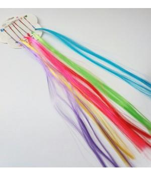 Искусственные пряди на невидимке цветные