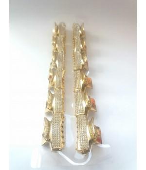 Крабик для волос золотой со стразами