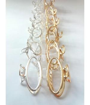 Металлический крабик для волос золото/серебро