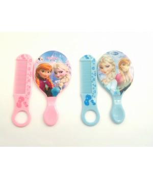 Детский набор расческа и зеркало Frozen
