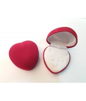Шкатулка Сердце бархатная