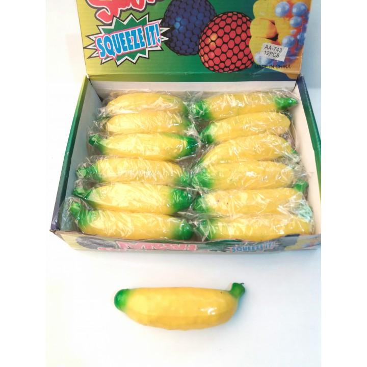 Лизун банан с гидрогелем