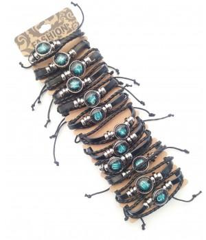 Браслет плетенный кожзам Зодиаки
