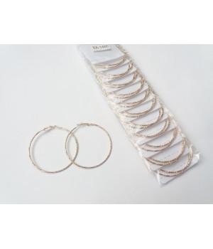 Сережки кольца под золото