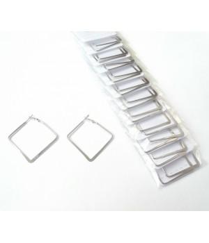 Сережки квадратные под серебро
