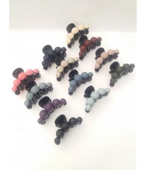 Крабик для волос жемчуг цветной