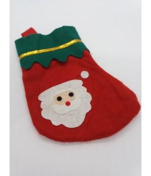 Новогодний носок Дед Мороз 18 см.