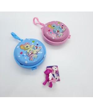 Металлическая шкатулка брелок Пони+игрушка