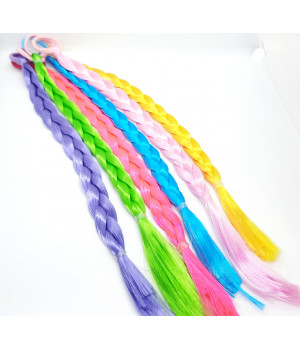 Детские косички цветные на резинке