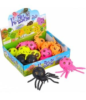 Лизун паук цветной с гидрогелем