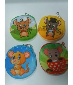 Детский кошелек мягкий Мышки